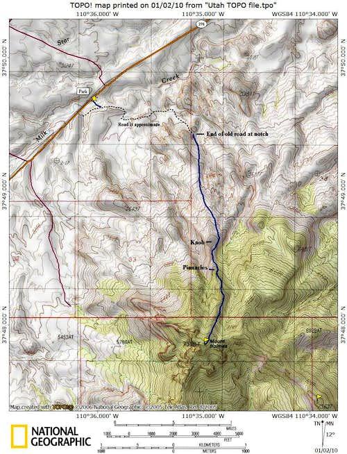North Ridge Route Map