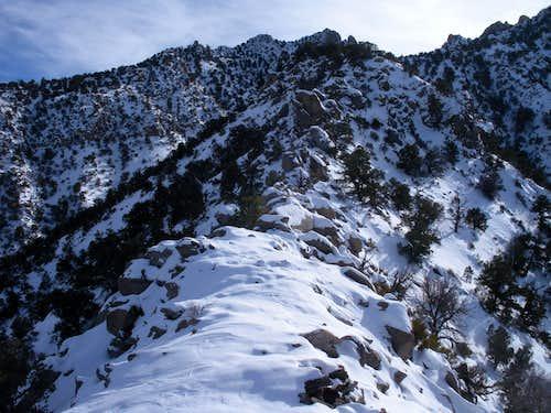 North Ridge in snow