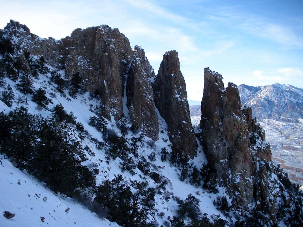 Rock pinnacles