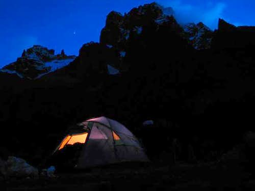 Mount Kenya\'s north face...