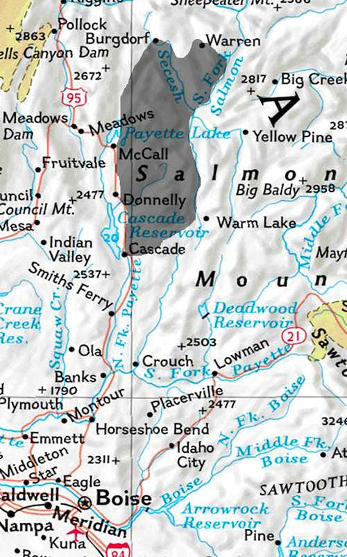 McCall area map