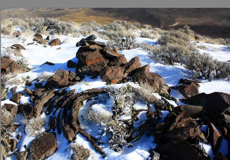 Interesting summit rocks