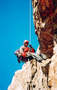 Second of 14 abseils on the...