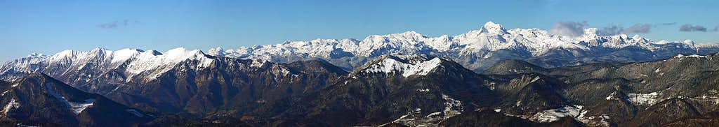 Julian Alps from the SE