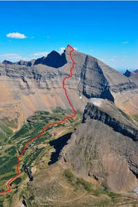 west couloir descent route, Mount Siyeh