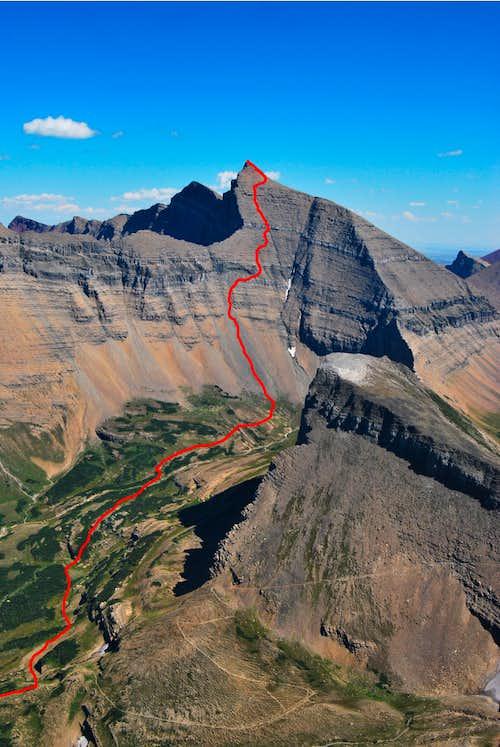 west couloir descent route, Mount Siyeh
