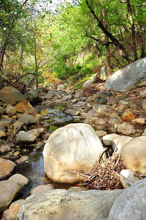 Creek next to Cracked Boulder