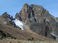 North face of Mount Kenya as...