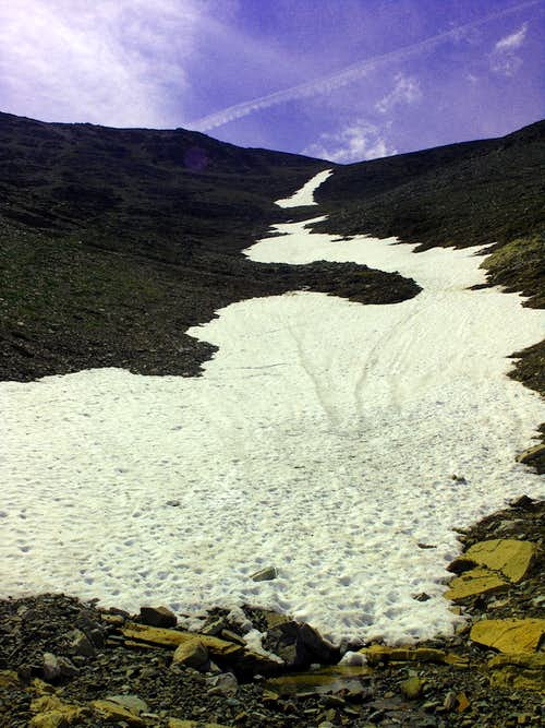 Snow field on Mad Wolf
