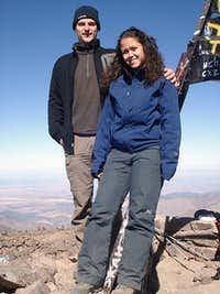 My girlfriend and me on the summit