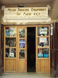 Mountain equipment shop in Imlil