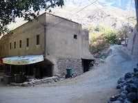 Last corner to the trail in Imlil