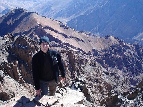 The steep side of Toubkal.
