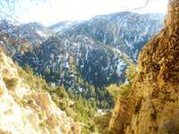 Yucaipa Ridge from Big Falls