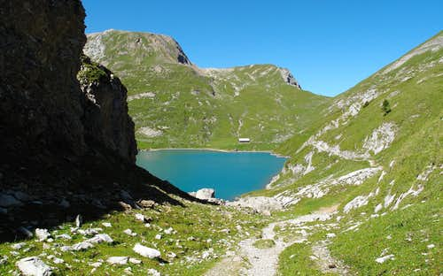 Arriving at the Iffigsee lake