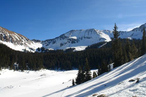 Bighorn Peak and frozen Williams Lake