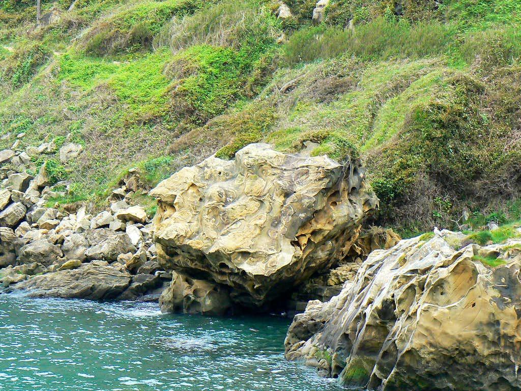 Sea rocks on the foot of Jaizkibel