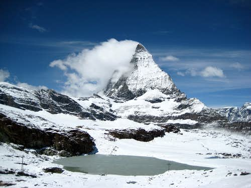 Matterhorn snow-covered