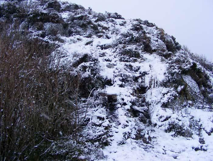 Steep climb to Mynydd Sygyn