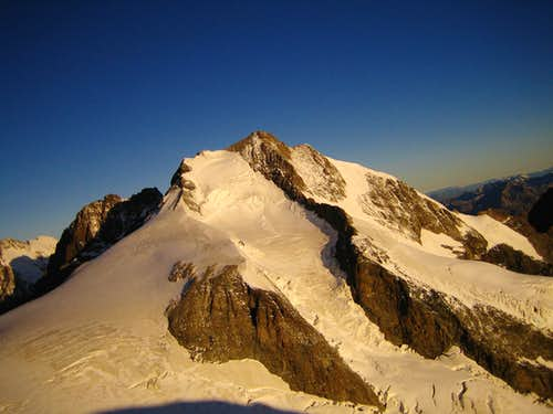 Piz Bernina seen from the Bellavista terrace