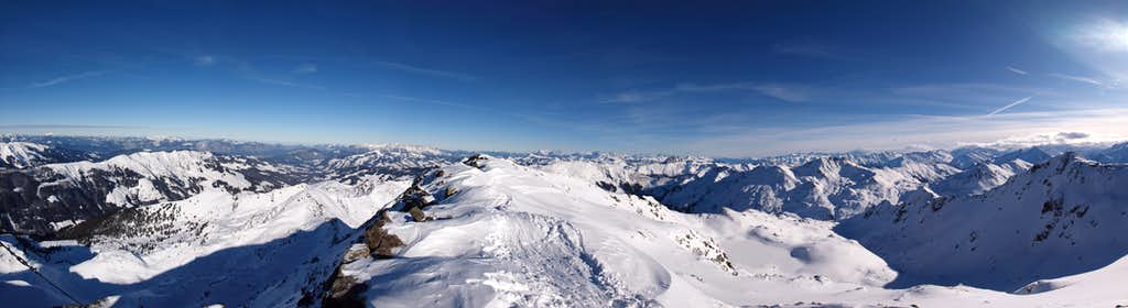 Kitzbuehel Alps - Schafsiedel summitpanorama
