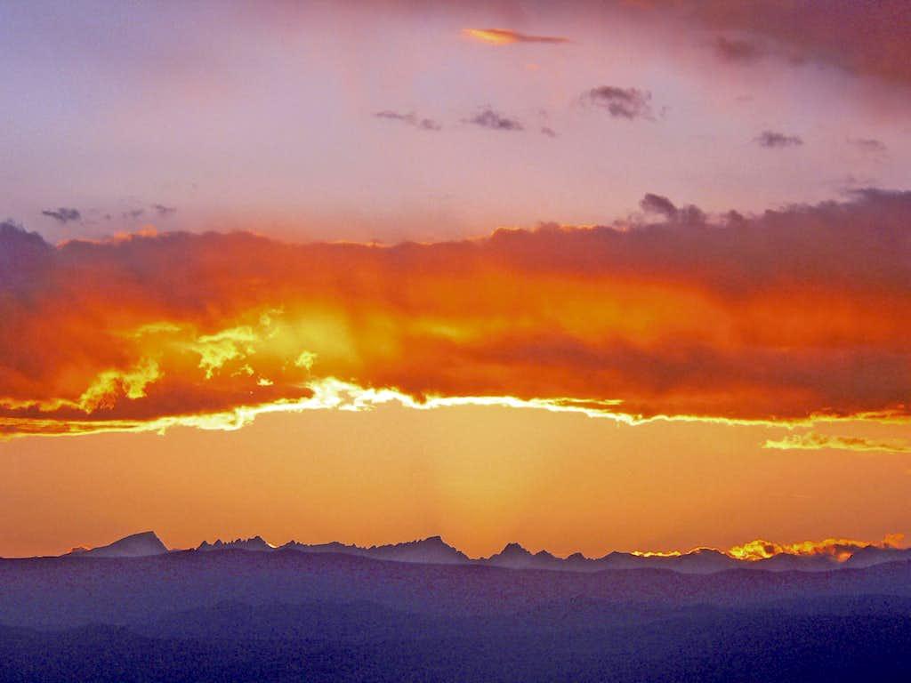 Sunset over the High Sierra