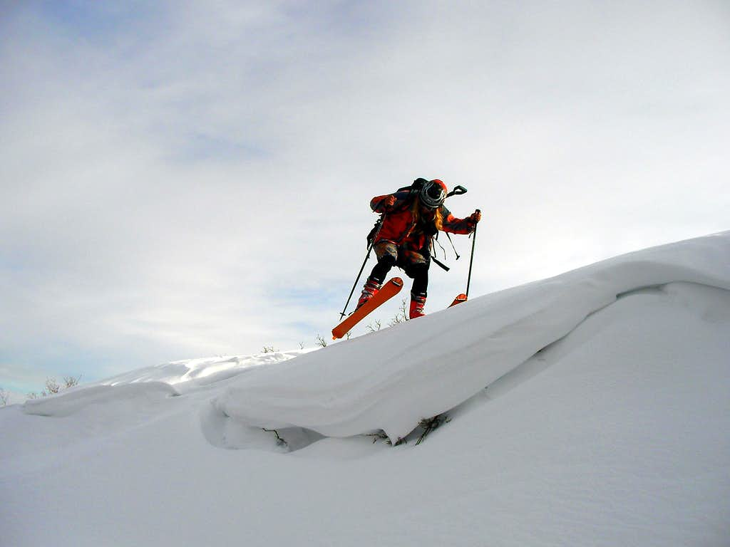 Me stomping a cornice in the Oquirrh Range