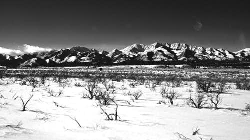 Deseret Peak in B&W