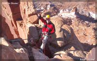 Belay on South Six Shooter