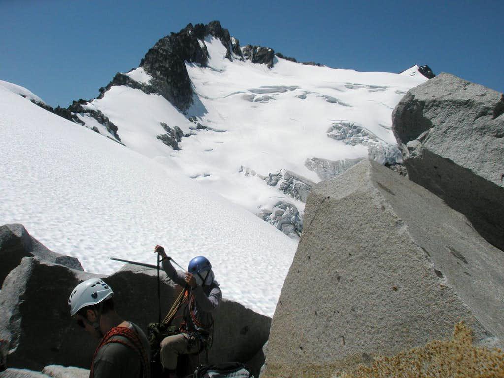 Getting on Walrus Glacier