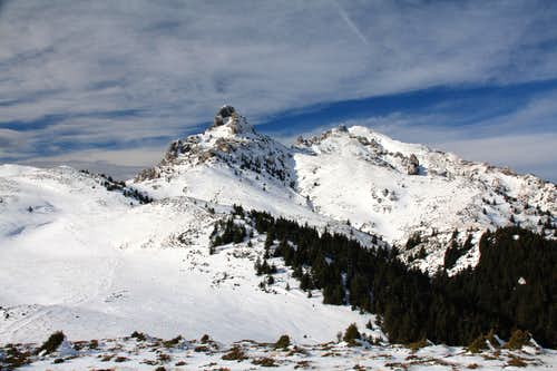 Ciucas Mountains in the winter