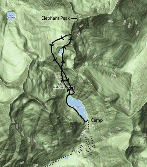 Elephant Peak via Rock Lake