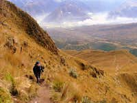 Getting to the summit ridge.