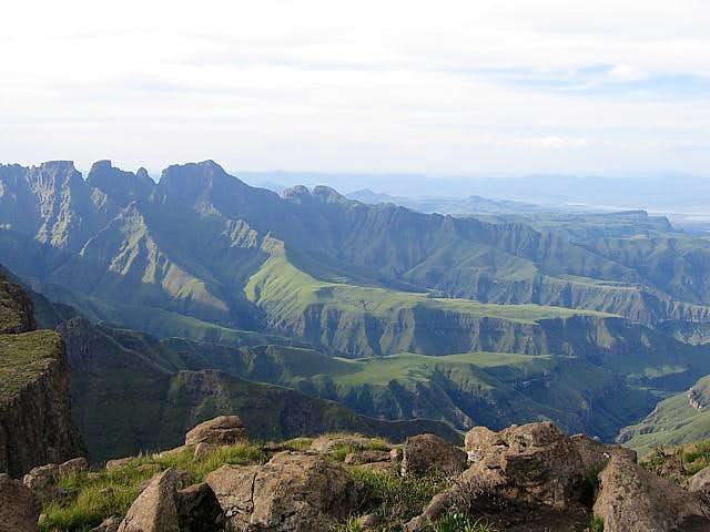 Cathedral Peak (right end of...
