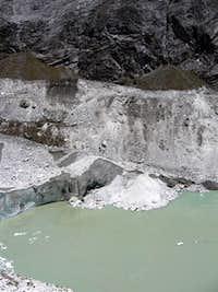 Ice climbers down below