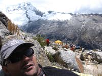 Resting after setting up base camp