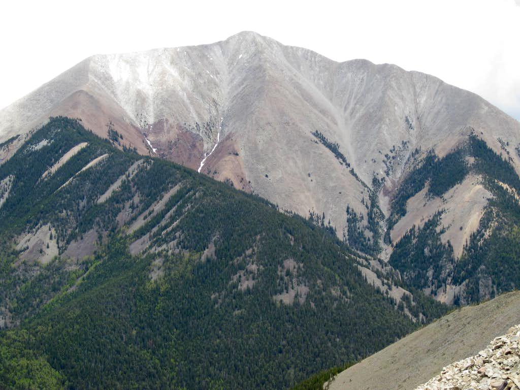 West Ridge of East Spanish Peak from the East Ridge of West Spanish Peak