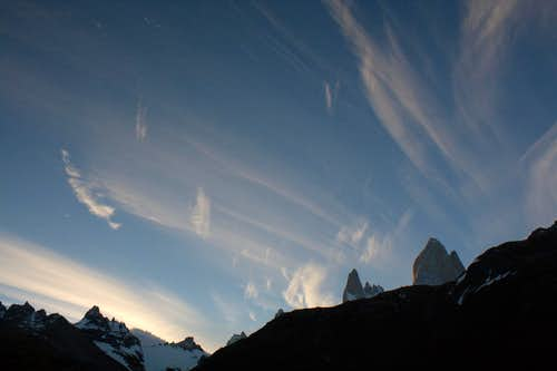 Fitz Roy and Aguja Poincenot