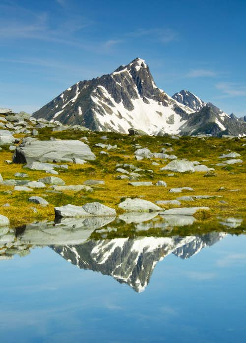 Cheops Mountain Reflection