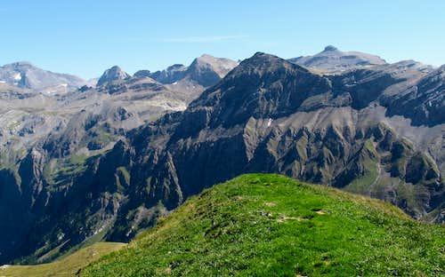 Wildstrubel, Weisshorn and Rohrbachstein seen from Iffighorn