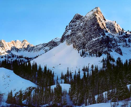 The view from Lake Blanche in winter