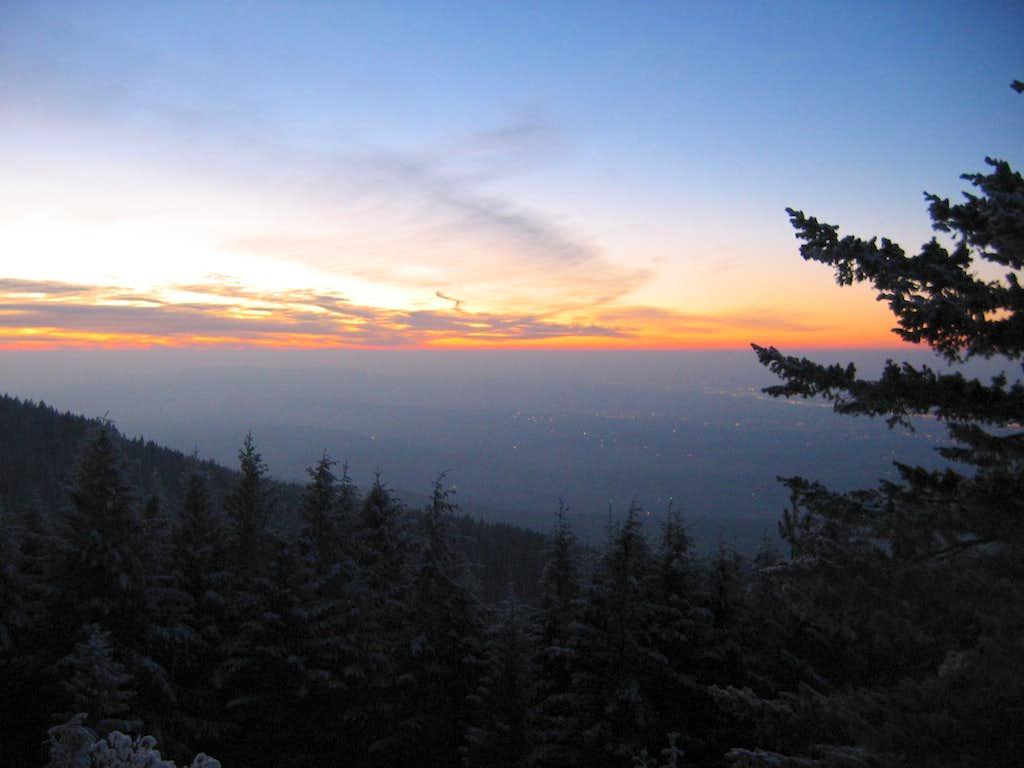 Sunset over Spokane