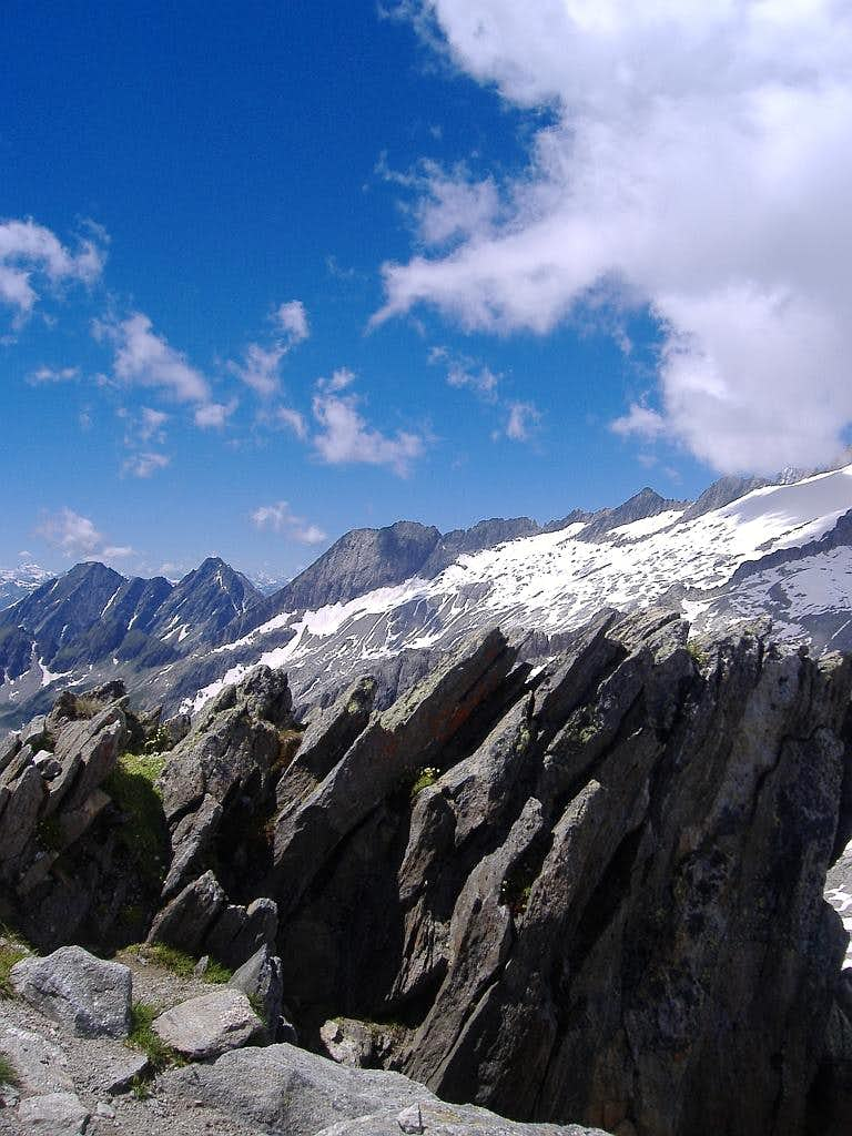 rocks on summit