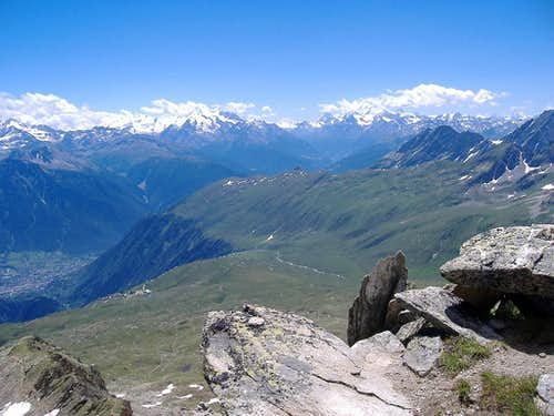 From Summit - view to Pennine Alps