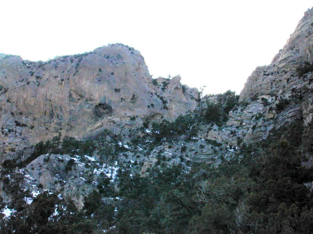 crux of climb
