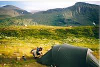 Camp near fjallstation