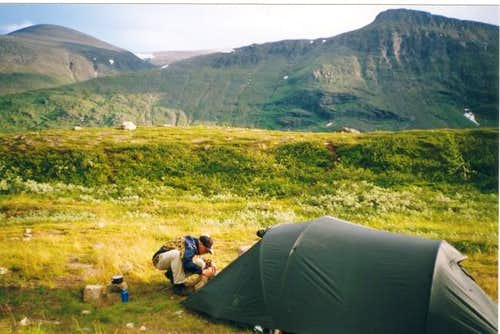 Camp near fjallstation