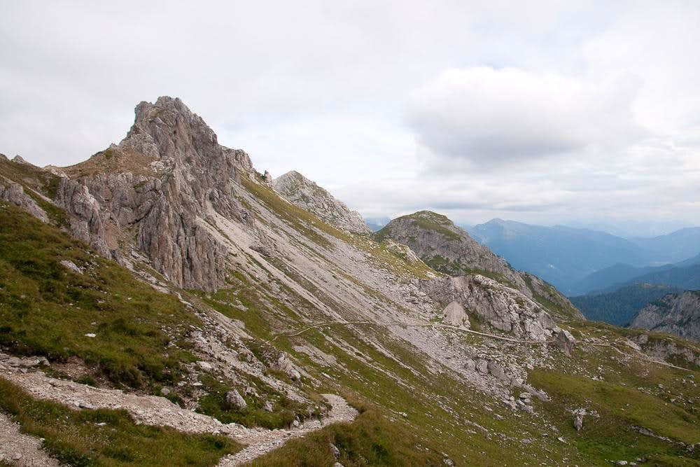 Looking from Passo del Mulo towards Monte Lastroni