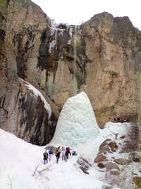 Sangan Ice Waterfall