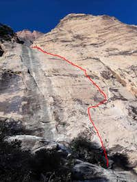 Power Failure, 5.10b, 3 Pitches